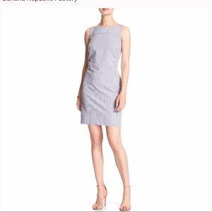 SALE Banana Republic striped sheath a line dress